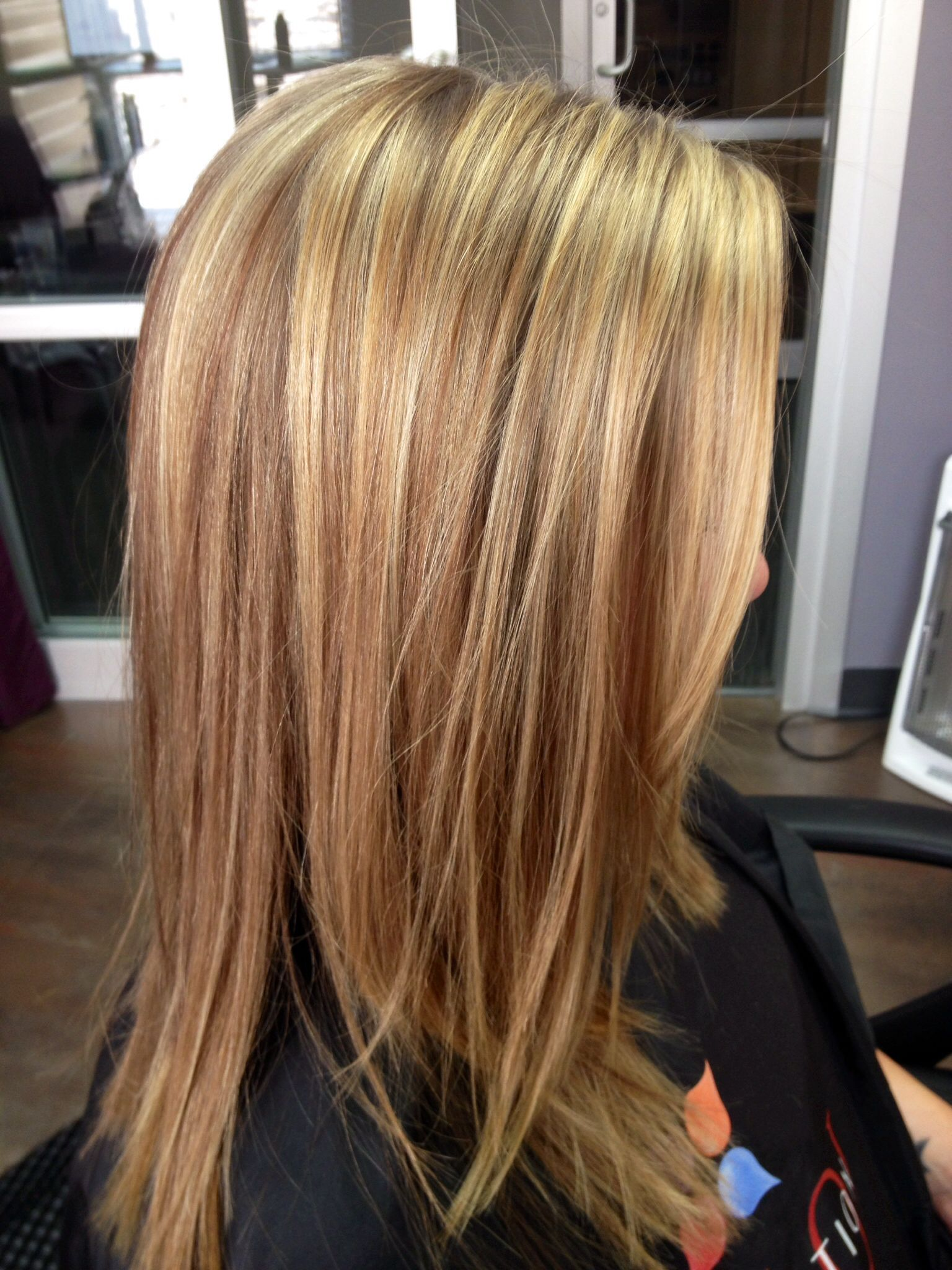 Highlights Blond Wella Color Touch And Blondor For A Soft Golden Blonde