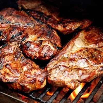 A St. Louis Signature! What's a pork steak? A pork butt cut in steaks. With some rub and sauce. Yummy!! #Porksteaks