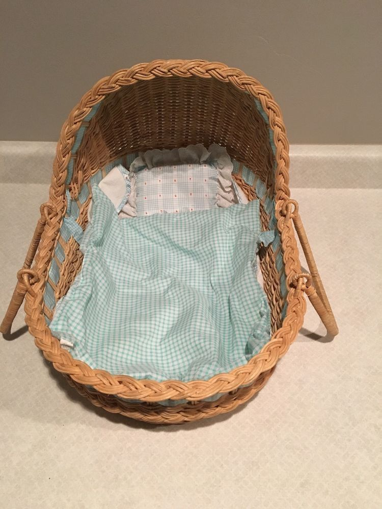 American girl doll bitty baby moses wicker basket
