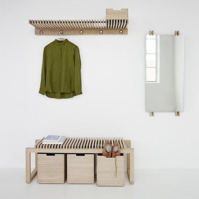 Cutter Bank Garderobe Eiche Garderobe Design Und Asthetisches