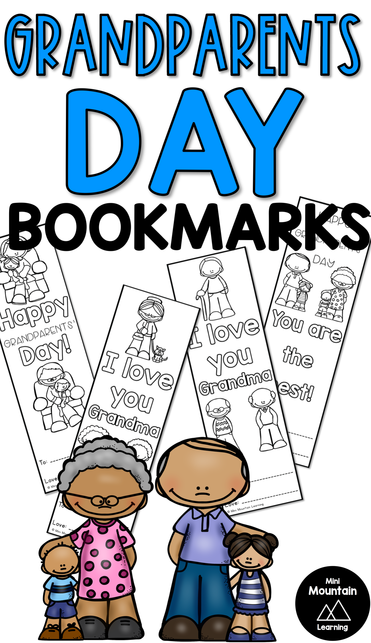 Grandparents Day Bookmarks #grandparentsdaycrafts