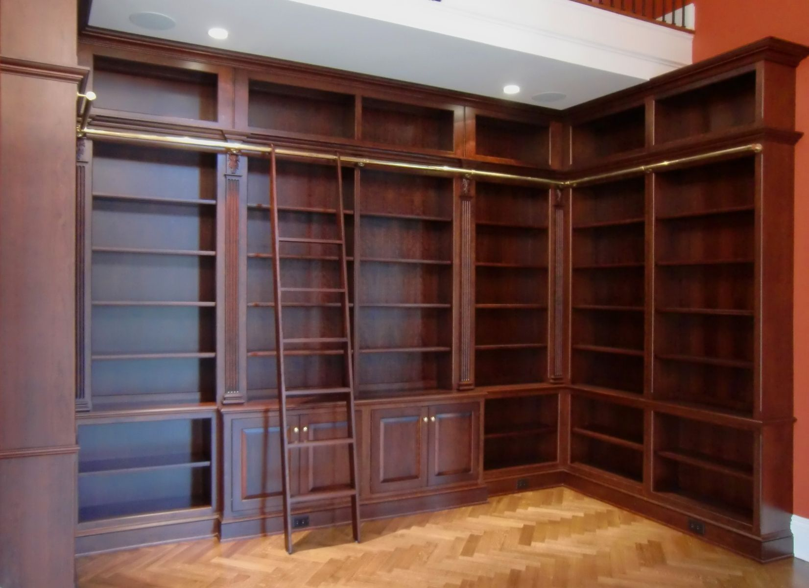 Library Shelf With Ladder Home Library Design Library Bookshelves Library Bookcase