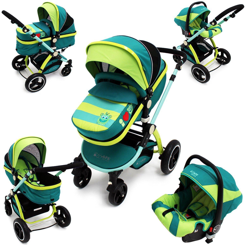2019 iSafe Baby Stroller Pram 3 in 1 LiL Friend Design