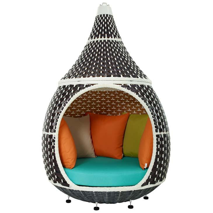 Outdoor Patio Wicker Rattan Hanging Pod