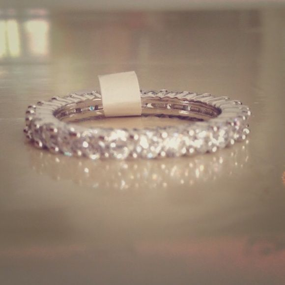 Beautiful Sterling Silver Eternity Ring Beautiful Sterling Silver 925 Eternity Ring Jewelry Rings