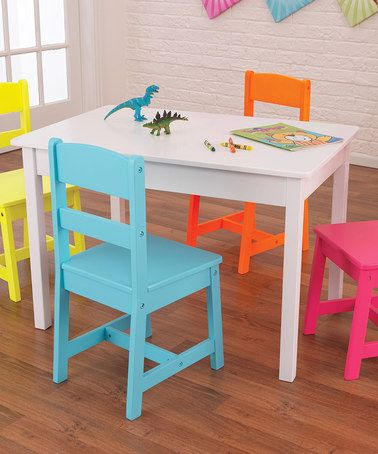 KidKraft Highlighter Five-Piece Table & Chair Set | Table and chairs ...