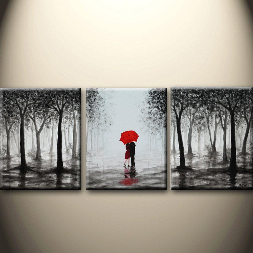 Made To Orderoriginal abstract painting kissing in por maggyart