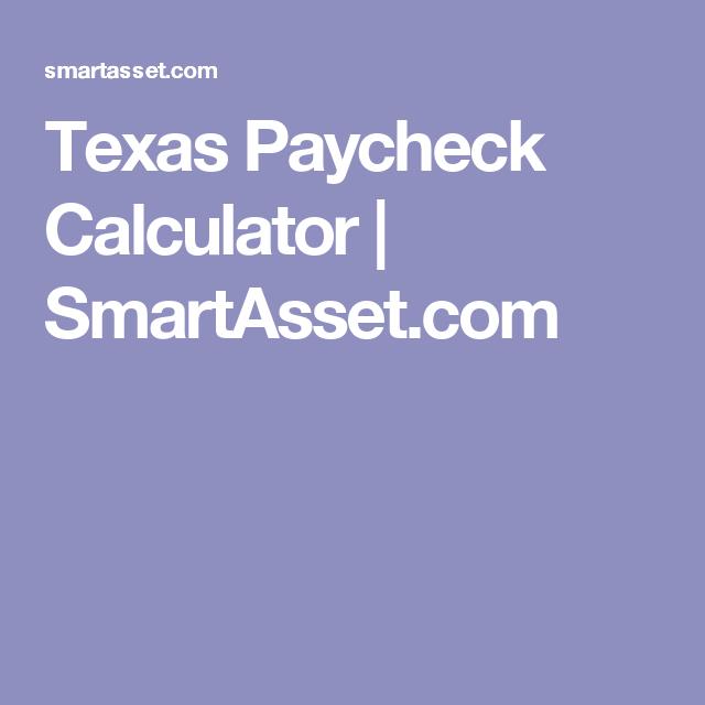texas paycheck calculator