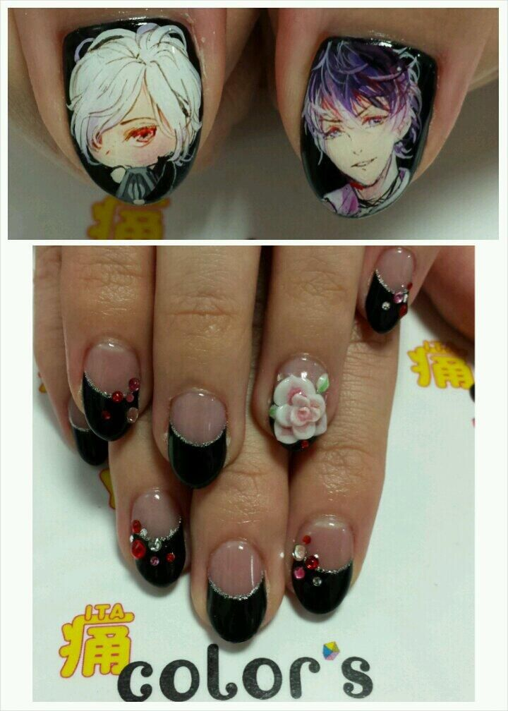 color\'sすみな西山 on | Anime nails, Toe nail designs and Hair cuts