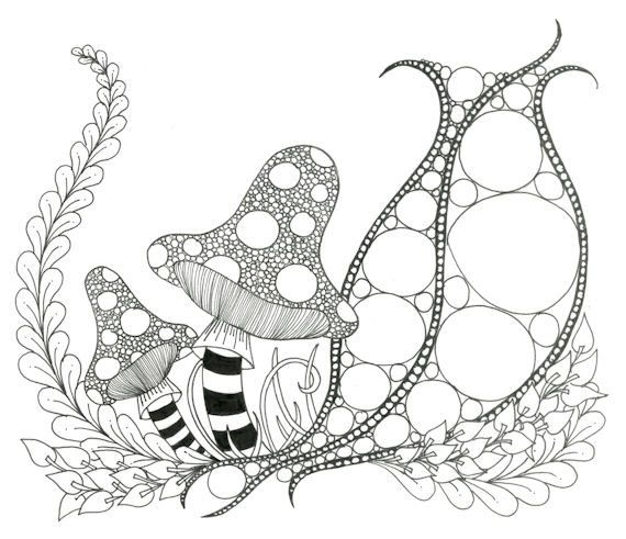 Printable zendoodle adult coloring page etsy, doodles and zentangles Completed Coloring Pages Zendoodle Cool Abstract Coloring Pages Zendoodle Animals