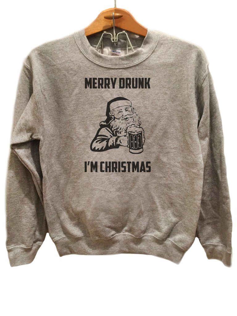 Merry drunk im christmas crew neck sweatshirt ugliest merry drunk im christmas ugly christmas sweater available sizes for this listing are small medium large extra large all sizes are standard sizes fandeluxe Image collections