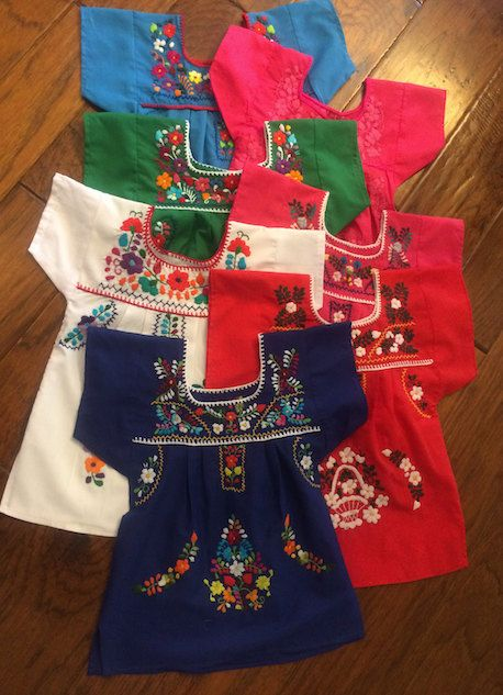 55ed084b5d9 Hand-embroidered little girls  Mexican Dresses on etsy