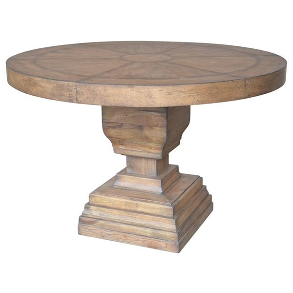 A B Home 31 Pedestal Round Dining Table In 2020 Pedestal Dining