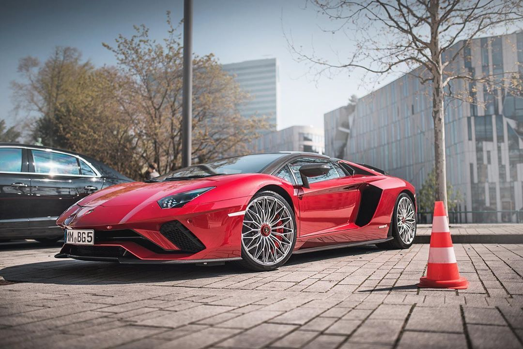 Rosso Bia A Lamborghini Aventador S Lp740 Roadster In A Beautiful And Rather Unusual Spec As Red Is Still Not Sports Cars Luxury Cars Italian Cars