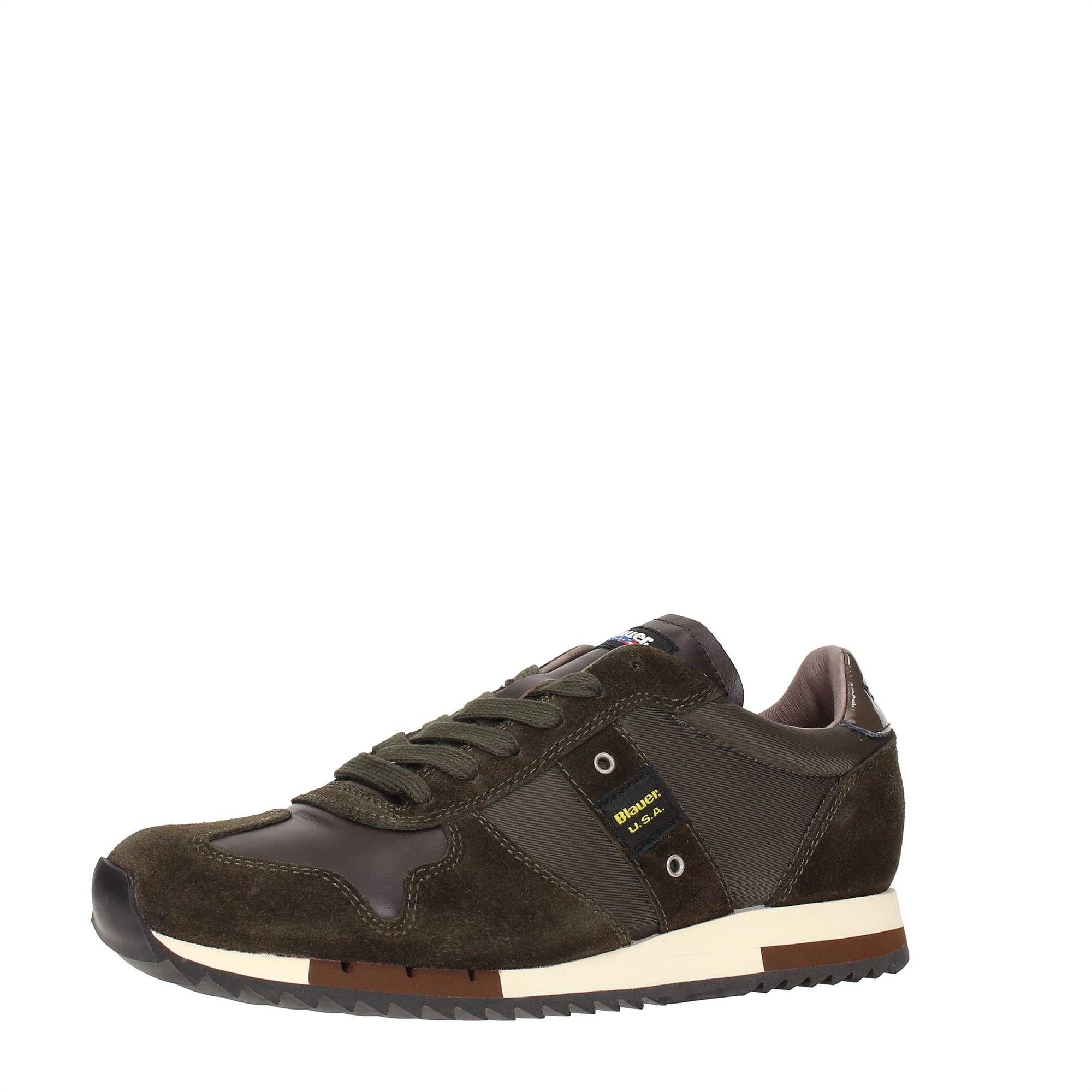 Blauer USA 6FRUNLOW/TAS Green Footwear Men Sneakers