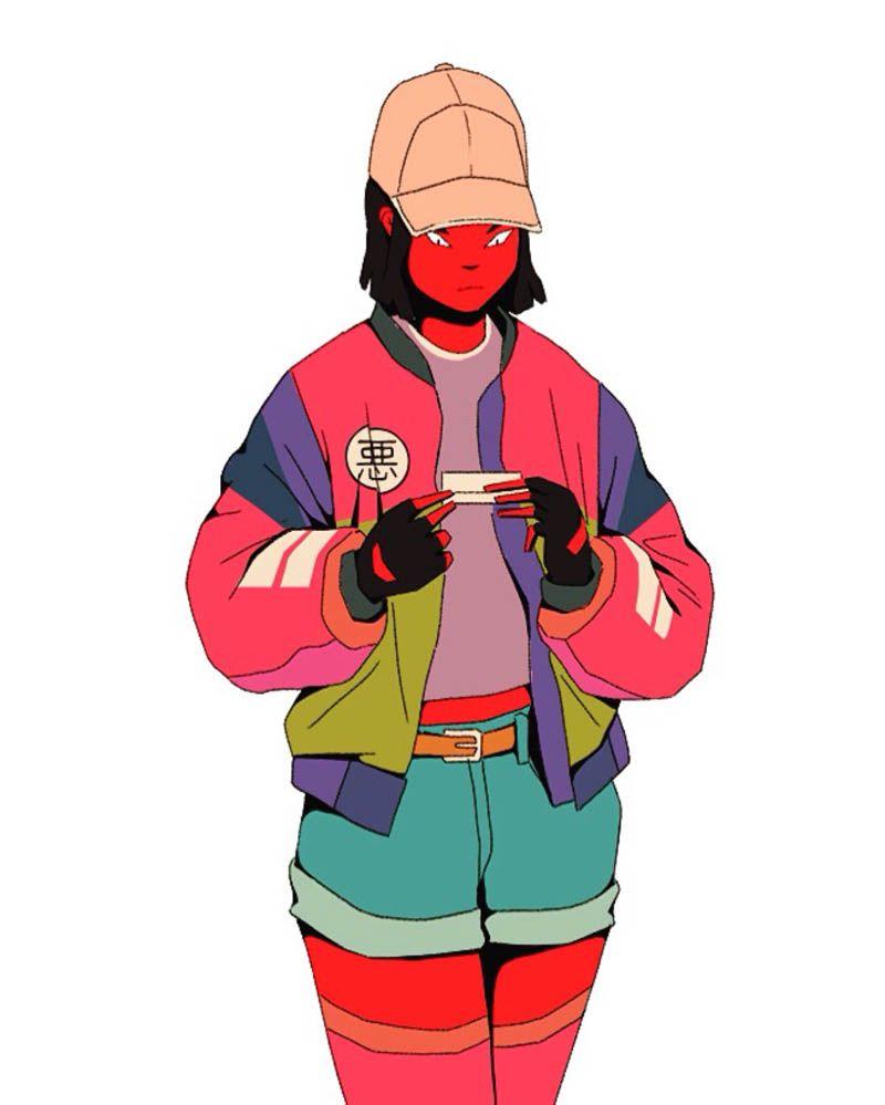 Mau Lencinas 90 S Hip Hop Style Meets Anime Character Art