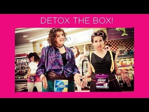 detox the box music video takes on toxic chemicals in feminine care products feminine care tampax detox pinterest