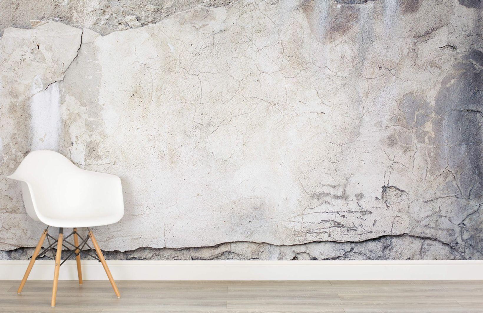 Cracked Concrete Wallpaper Broken Concrete Effect Muralswallpaper Concrete Wall Concrete Wallpaper Interior Design Rustic