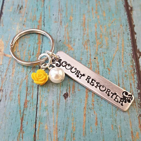 Check out this item in my Etsy shop https://www.etsy.com/listing/464495080/court-reporter-keychain-court-reporting