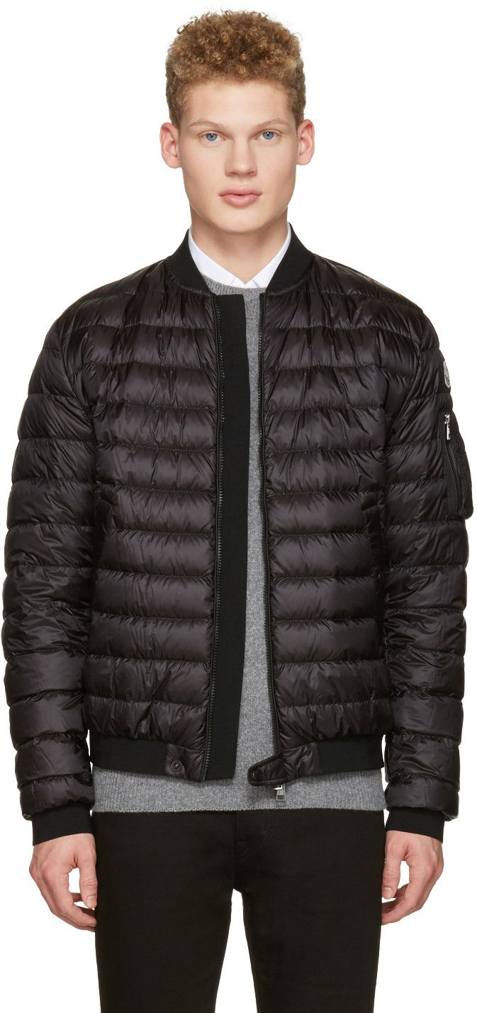 MONCLER Black Down Aidan Bomber Jacket. #moncler #cloth #jacket ...