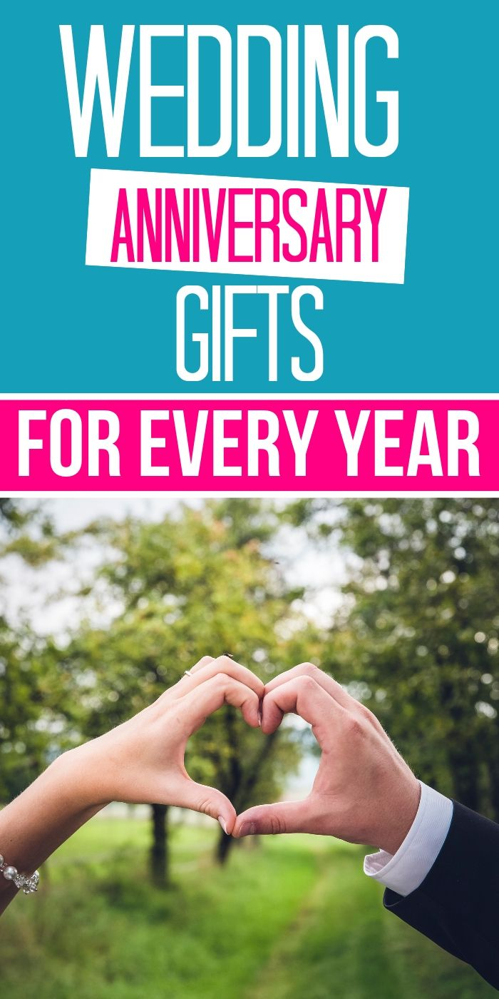 Wedding anniversary gifts by year What are the