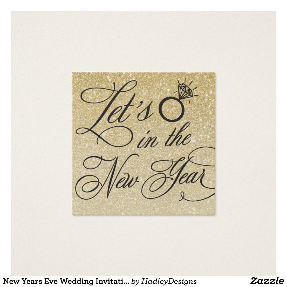 New Years Eve Wedding Invitation Name Plate Card | Favors, Weddings ...