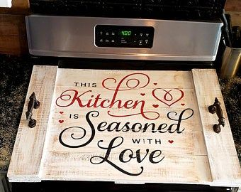 Stovetop noodle board/stovetop cover/farmhouse kitchen/rustic kitchen decor #farmhousekitchencolors