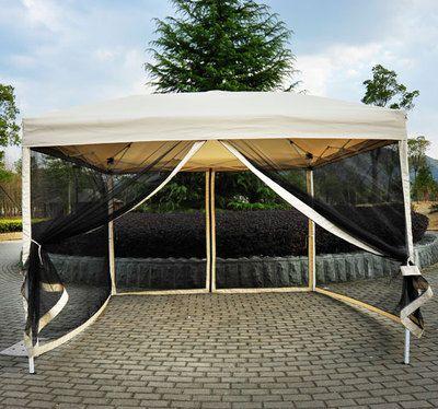 10u0027 X 10u0027 Pop Up Party Tent Mesh Screen Garden Patio Gazebo Canopy Patio  Shade