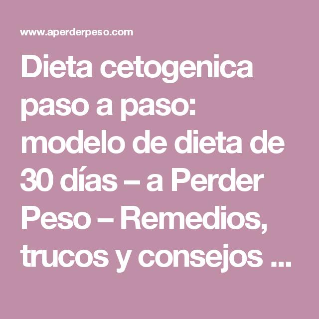 Dieta cetogenica paso a paso
