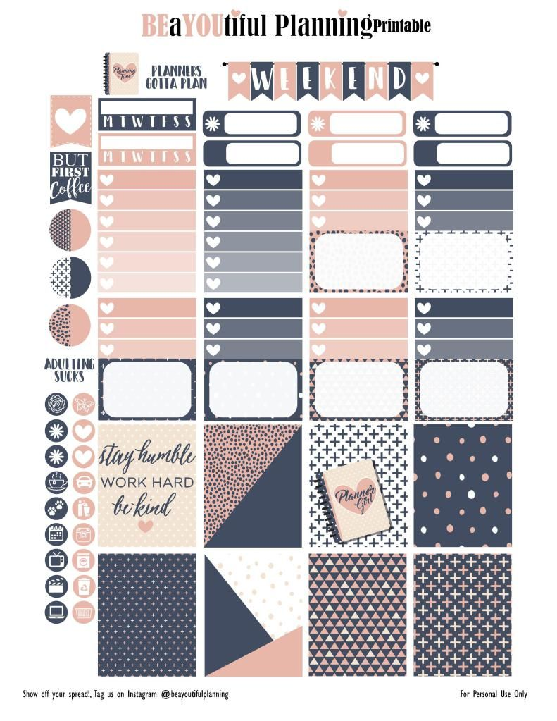 Be Kind – Free Printable – BEaYOUtiful Planning | planner awesomness ...