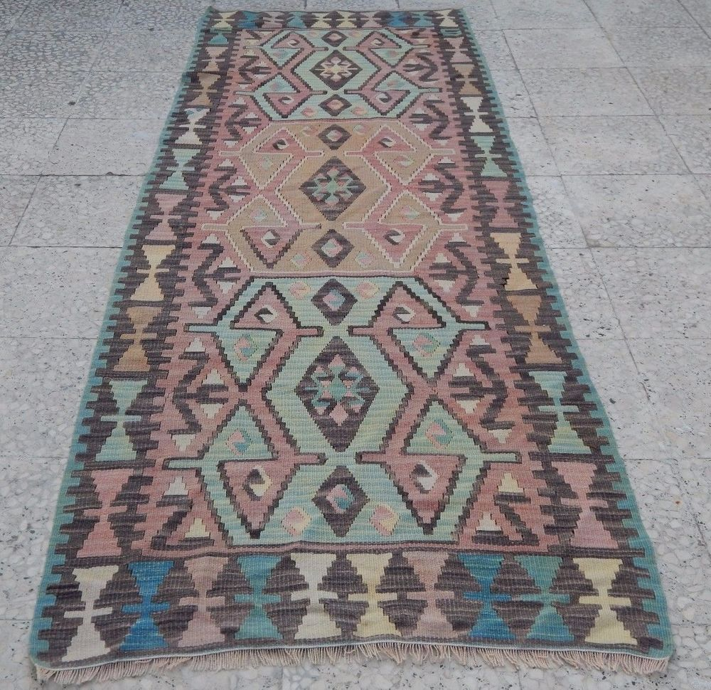 Kitchen Runner, High Quality Turkish Oushak Kilim Rug