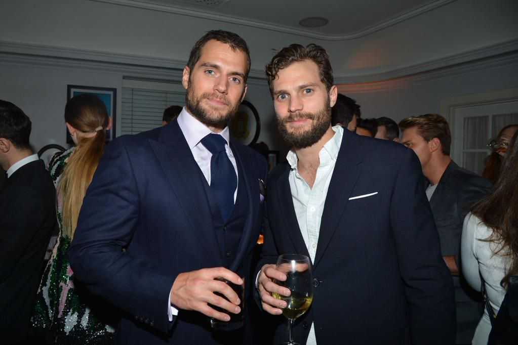 Henry Cavill and Jamie Dornan at W Mags pre-Golden Globes Party. via HenryCavillOnline