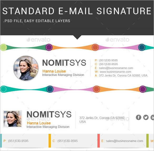 64 Email Signature Designs Download Edit Easily Email Signature