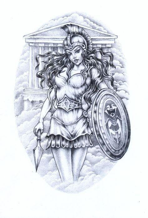 Goddess Of Athena Deusa Atenas Tatuagens Mitologia Grega