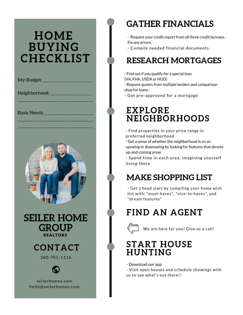 Home Buying Checklist Home Buying Checklist Home Buying Checklist