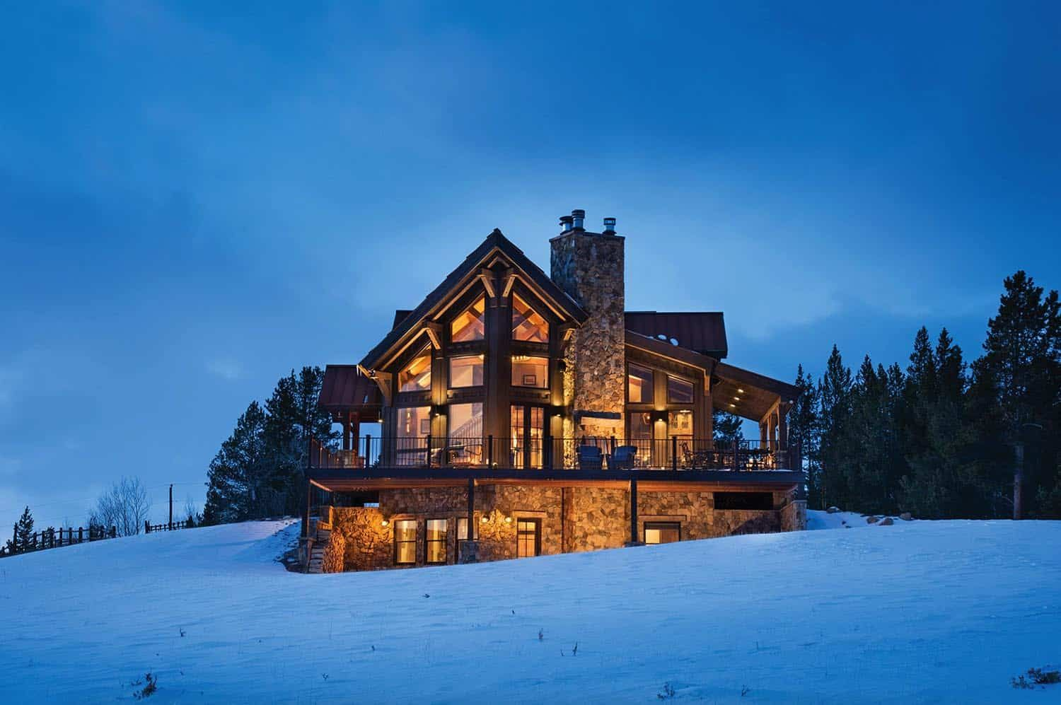 Delightful Timber Frame Mountain Cabin Perched On A Colorado Hillside In 2020 Timber Cabin Mountain Cabin Mountain Dream Homes