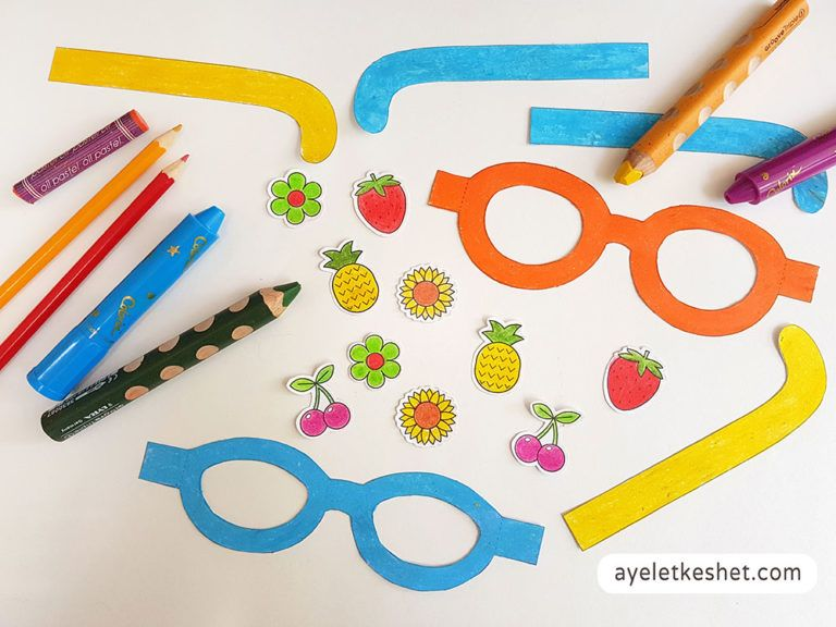 DIY craft paper sunglasses with templates is part of Paper crafts diy, Diy crafts, Paper crafts, Crafts, Summer crafts, Diy - Summer activity Make these DIY craft paper sunglasses with templates and printable decorations  Follow the stepbystep tutorial!