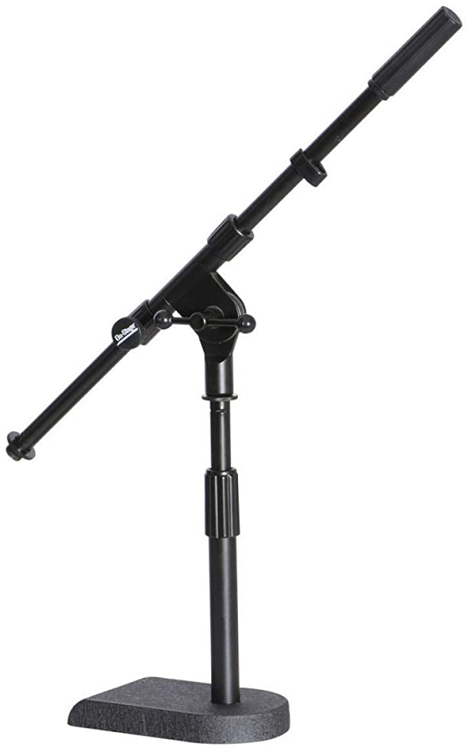 Amazon Com On Stage Ms7920b Amp And Bass Drum Short Microphone Stand Musical Instruments Microphone Stands Drum And Bass Microphone