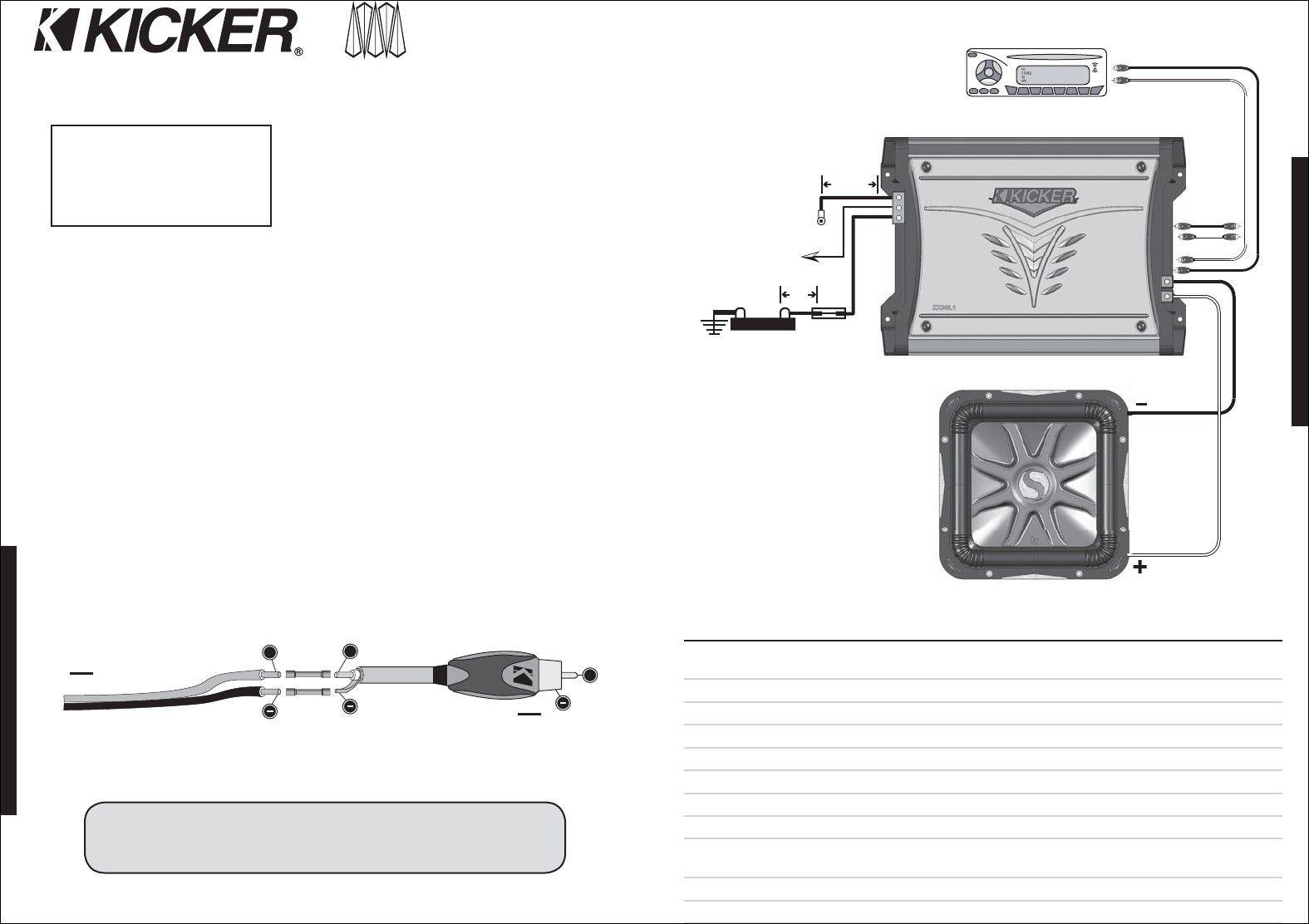Kicker Solo Baric L7 Wiring Diagram New Di 2020