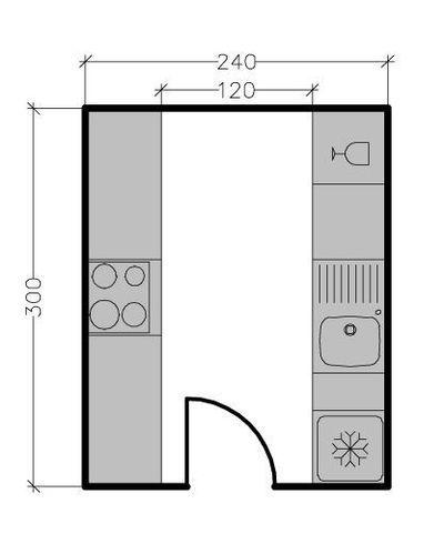 8 plans de cuisine parall le face face diff rentes. Black Bedroom Furniture Sets. Home Design Ideas
