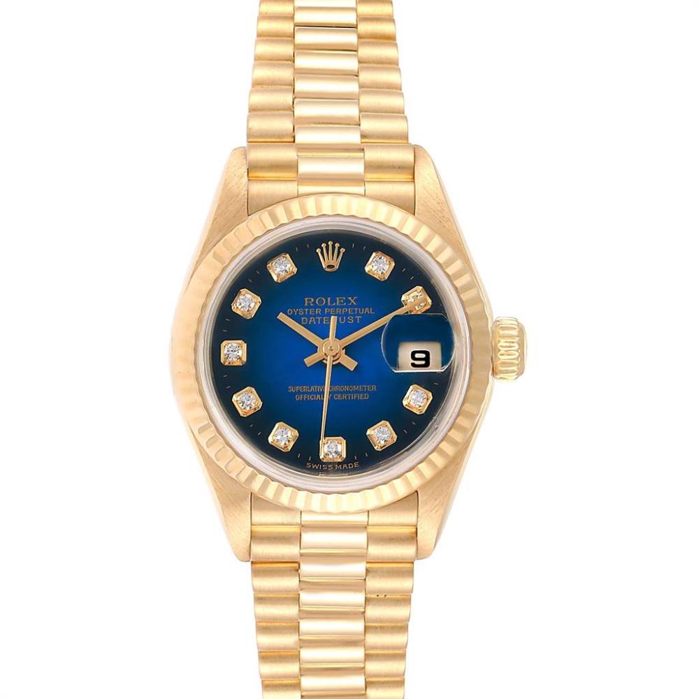Rolex President Datejust Yellow Gold Vignette Diamond Ladies Watch 79178 #rolexwatches