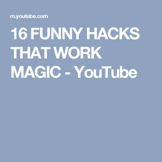 16 FUNNY HACKS THAT WORK MAGIC - YouTube