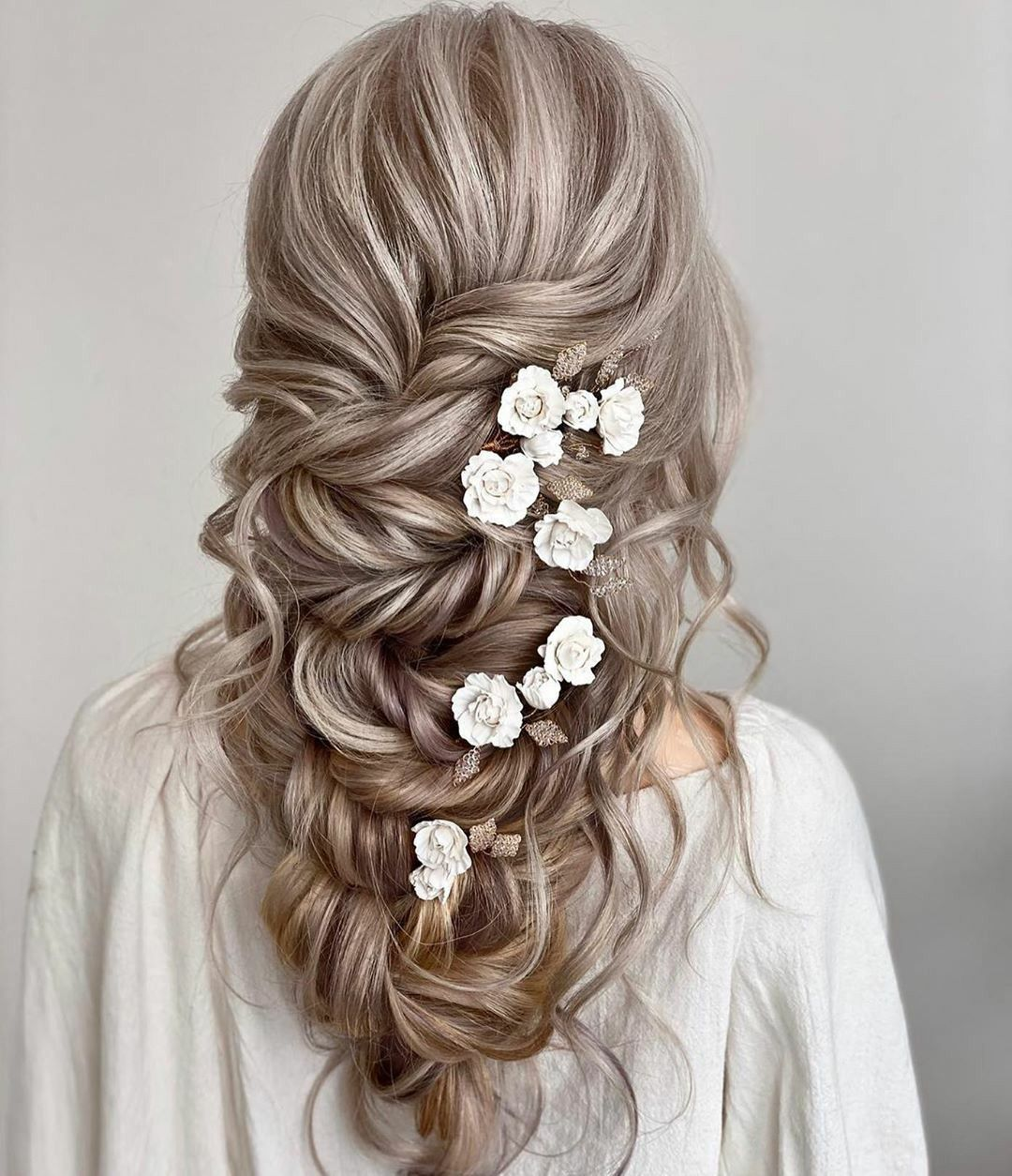 Wedding Hairstyle Ideas 2020 With White Flowers In 2020 Hair Styles Homemade Hair Dye Long Hair Styles