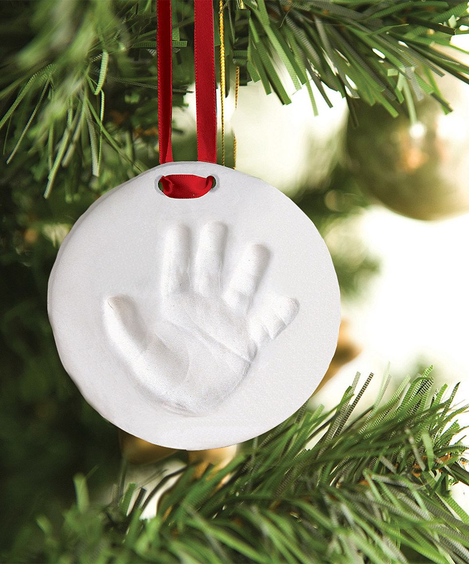 Another great find on zulily pearhead white baby handprint pearhead white baby handprint ornament set by pearhead solutioingenieria Images
