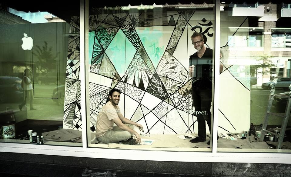 12 x 8 mural at Lululemon Spokane for their grand opening. Thanks for the collab Eric Smith!