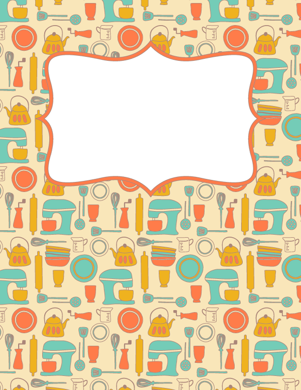 Free printable recipe binder cover template download the cover in jpg or pdf format at http for Pinterest cookbook