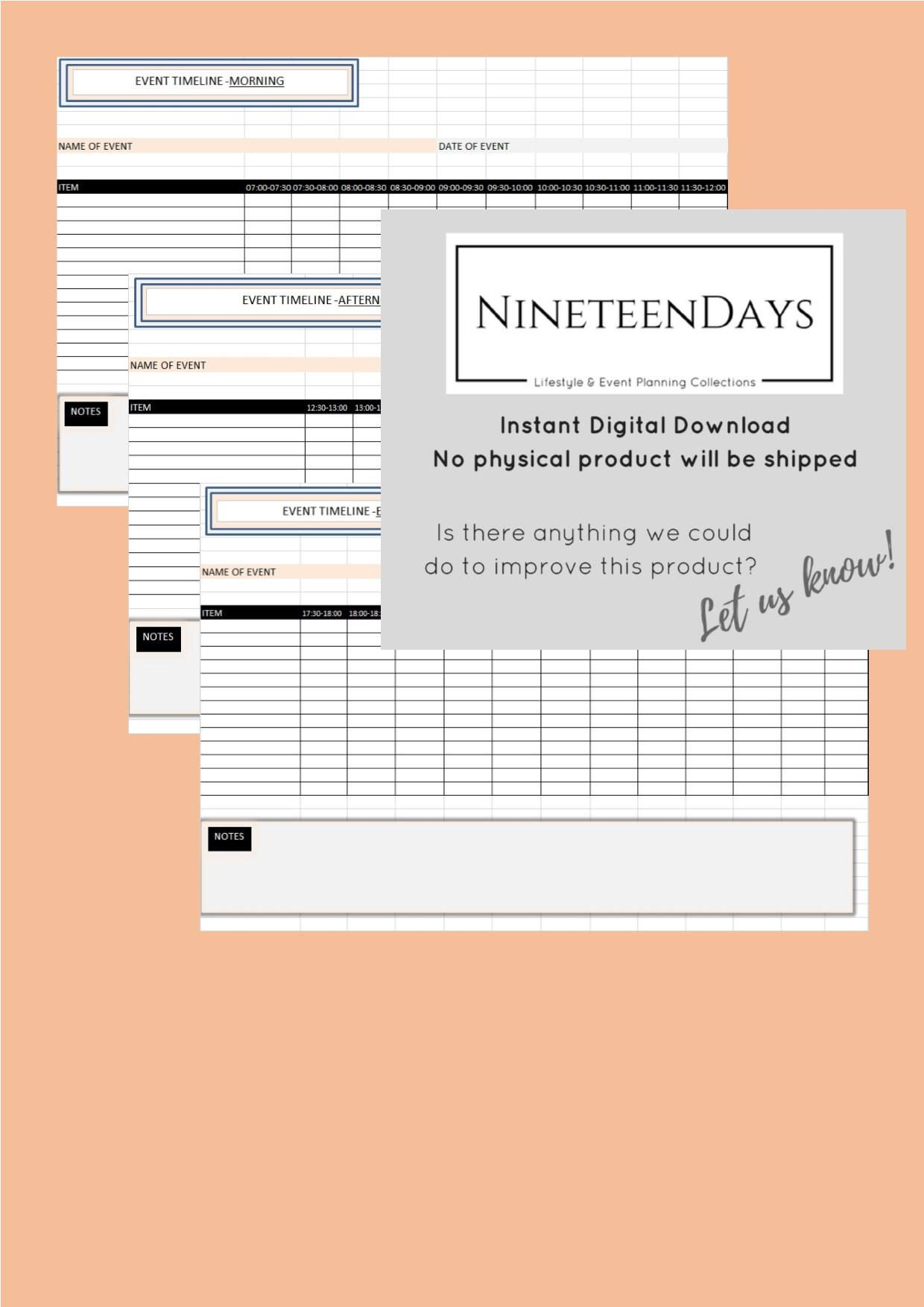 Event Or Wedding Planner Timelines For The Day Of An Event