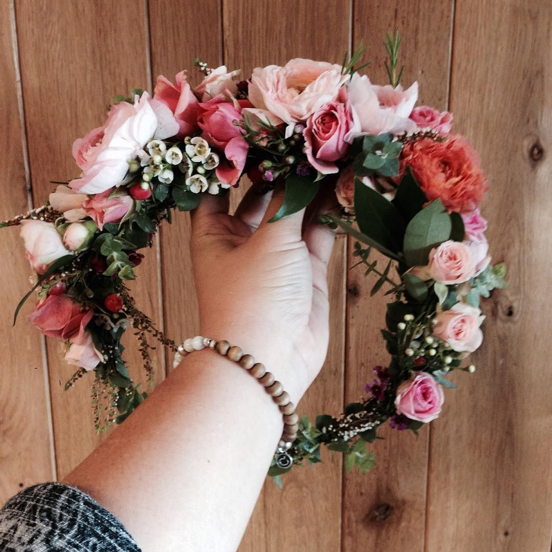 Pink Ranunculus Flower Crown Www Thecrowncollective Co