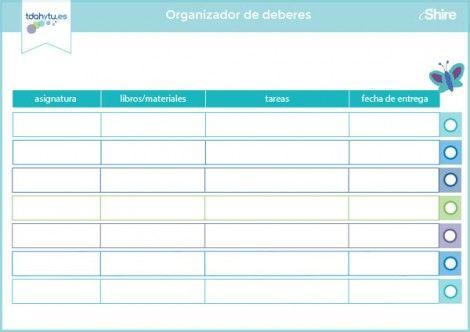 Organizador de deberes
