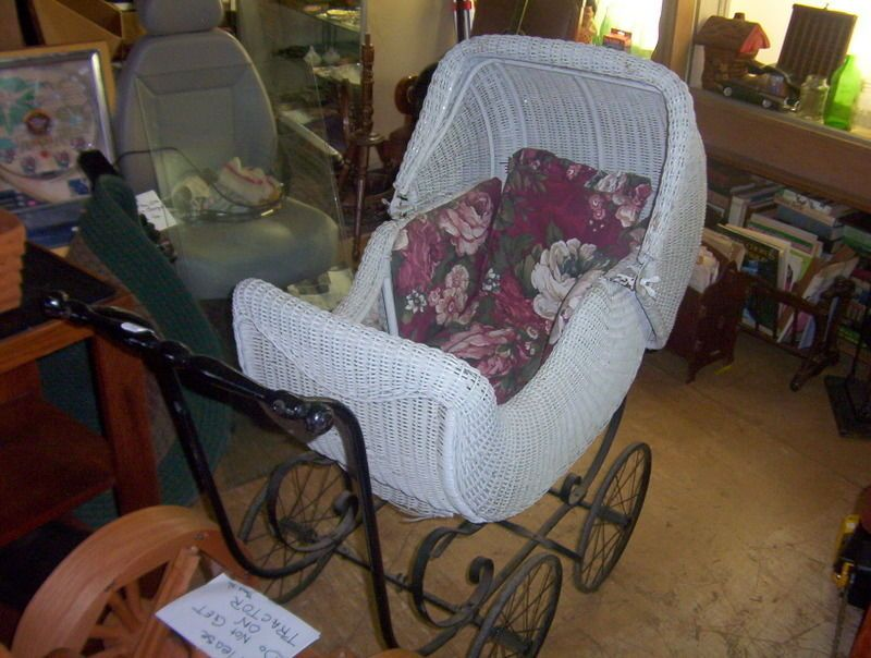 Vintage Antique RARE 1920\'s Haywood Wakefield Baby Stroller Heavy ...
